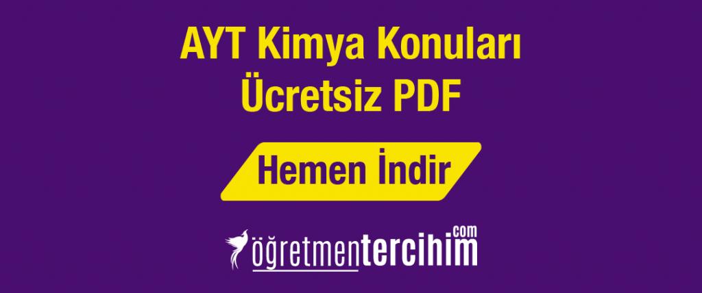 ayt kimya ücretsiz pdf