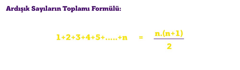 ardışık sayılar formülü