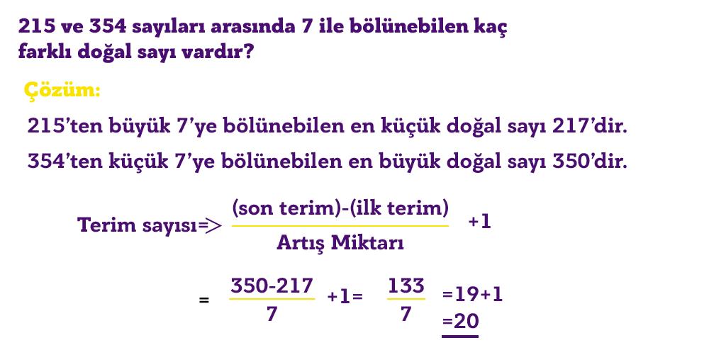 ardaşık sayı örnek soru