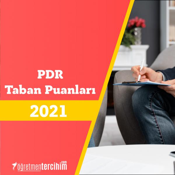 PDR Taban Puanları ve PDR Başarı Sıralamaları