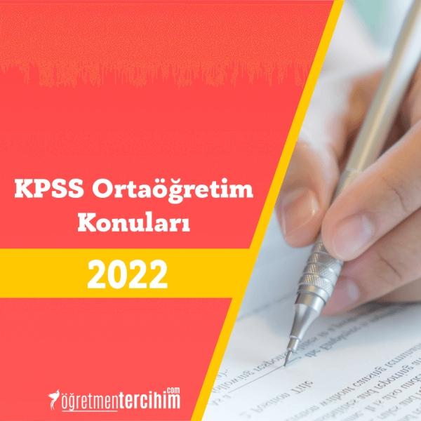 KPSS Ortaöğretim Konuları ve Soru Dağılım Tablosu
