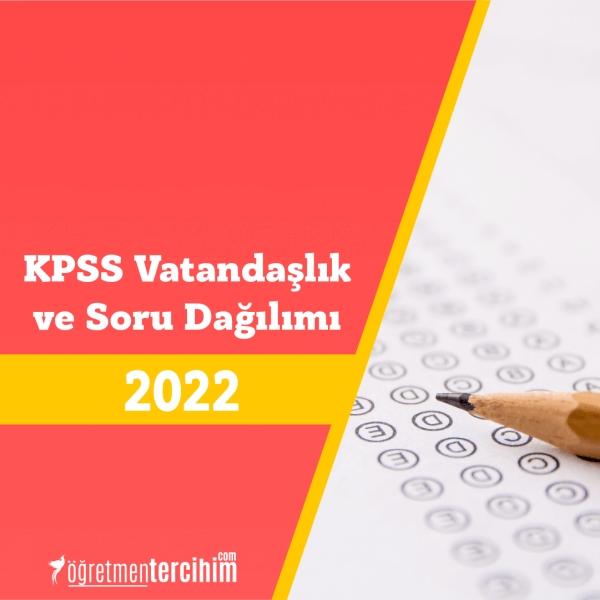 2022 KPSS Vatandaşlık Konuları ve Soru Dağılım Tablosu
