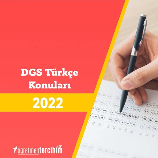 2021 DGS Türkçe Konuları ve Soru Dağılım Tablosu