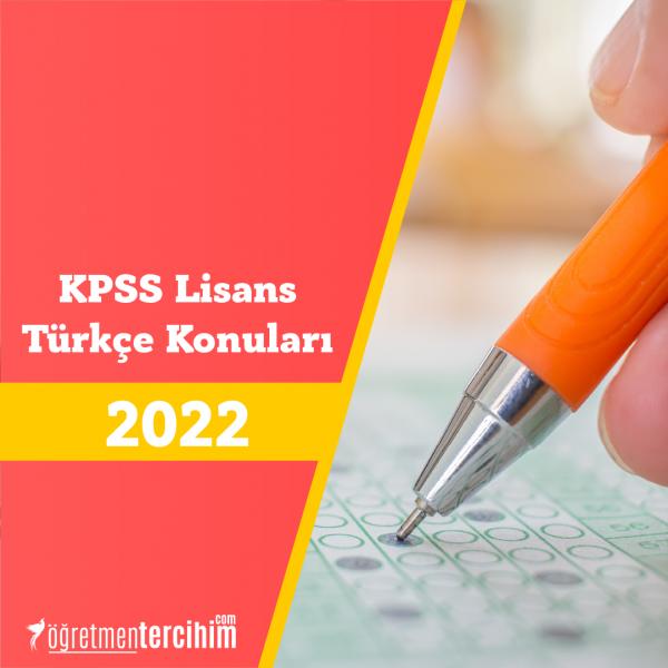 KPSS Lisans Türkçe Konuları ve Soru Dağılımı (ÖSYM-YÖK)